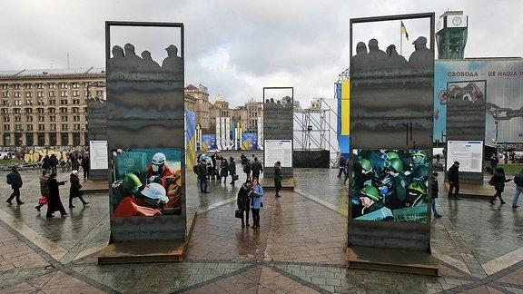 Der Maidan-Platz in Kiew