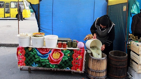 Wochenmarkt in Kiew
