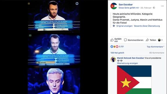 """Bildmontage """"Wer wird Millionär?"""" Polen"""