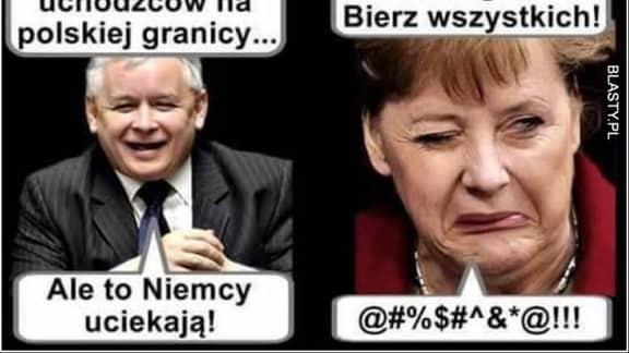 Merkel und Kaczynski in einer Fotomontage