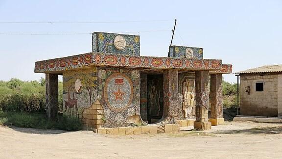 Mosaik, Bushaltestelle Aserbaidschan 2017