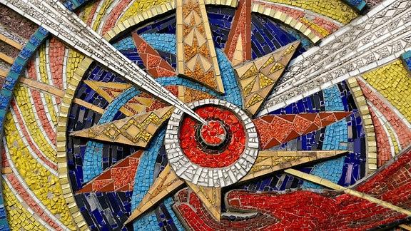 Mosaik, Detail Kernforschung Ukraine 2018