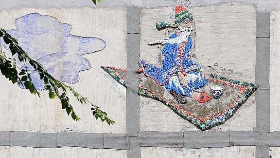 Mosaik fliegender Teppich Kirgistan 2018