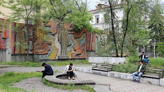 Mosaik Lenin Kirgistan 2018