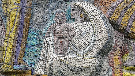 Mosaik Madonna mit Kind, Kirgistan 2018