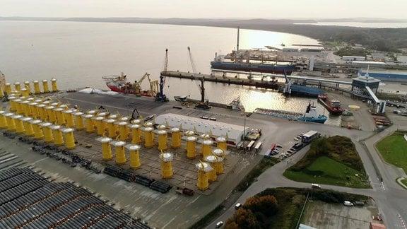 Luftbild Hafen Mukran