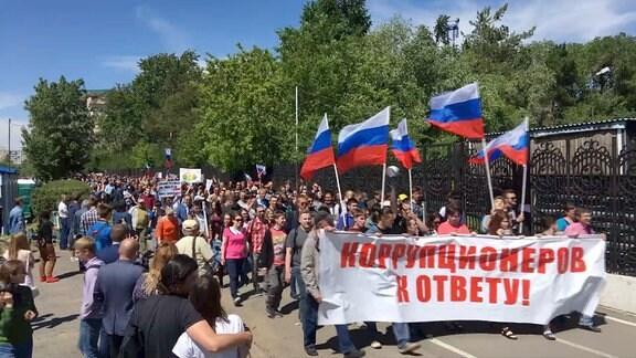 Nawalny Demo Omsk