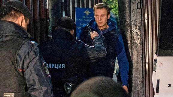 Alexei Navalny wurde verhaftet.