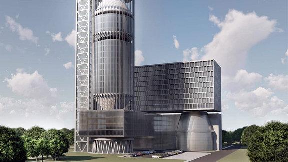 Entwürfe für Hauptquartier von Roskosmos in Moskau