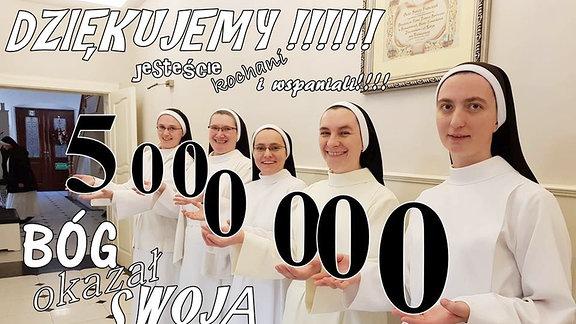 Polnische Ordenssschwestern aus der Gemeinde Broniszewic erobern mit ihrem  - Pinguin-Projekt - das Netz