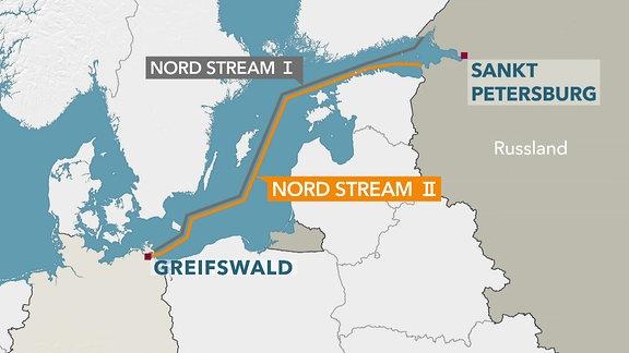 Nord Stream 2 Karte