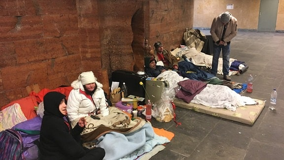Obdachlose in Budapest