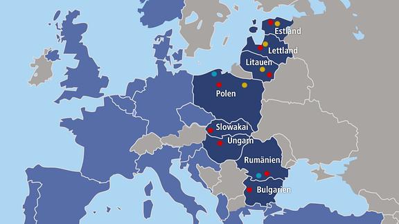 Graphik zur Ostflanke der Nato