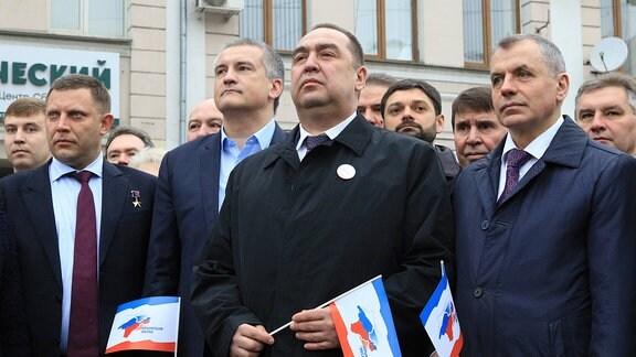 Plotnizki während des 3. Jahrestags der Ausrufung der Unabhängigkeit der Volksrepubliken Luhansk und Donezk
