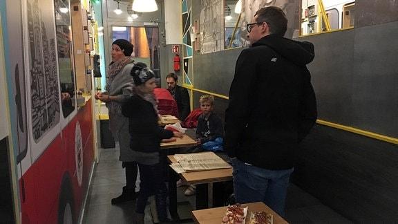 Polnische Zapiekanka-Snack Bar in Warschau