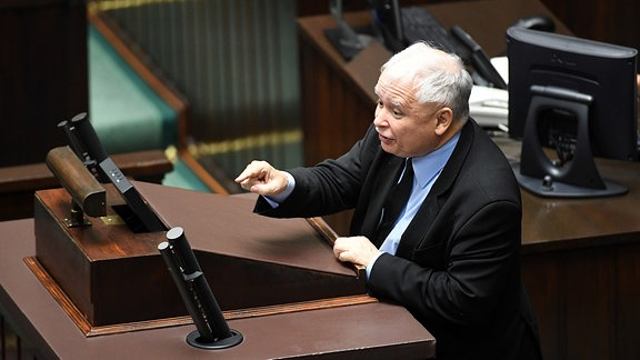 Jaroslaw Kaczynski während der Parlamentsdebatte im Sejm in Warschau am 19. Juli 2017.