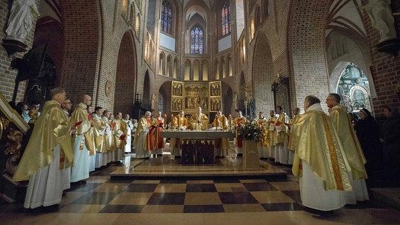 Messe in einer katholischen Kirche