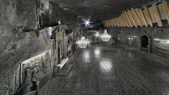 Kapelle im polnischen Salzbergwerk Wieliczka