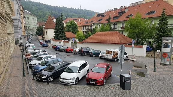 Parkplatznot in Prag