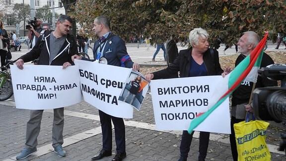 Proteste in Sofia nach Mord an bulgarischer Journalistin Viktoria Marinova