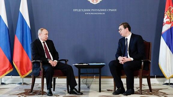 Wladimir Putin und Aleksandar Vucic.