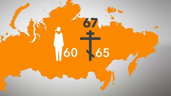 Landkarte, Menschen, Symbole, Zahlen