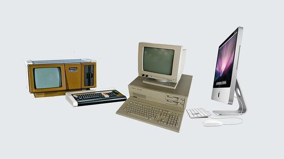 Robotron Computer und Apple-Computer