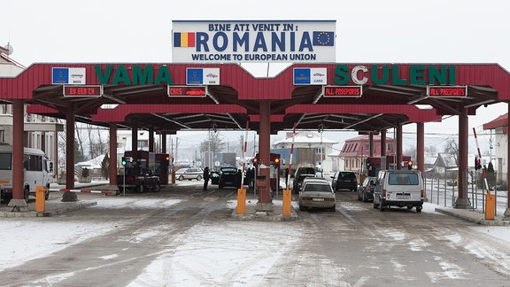 Rumänischer Grenzübergang zur Republik Moldau