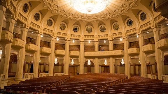Blick in den Theatersaal des früheren Ceausescu-Palasts