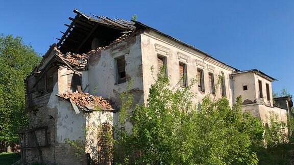 Verfallenes Haus in Pskow