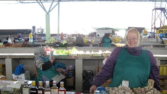Eine Marktfrau in Tiraspol