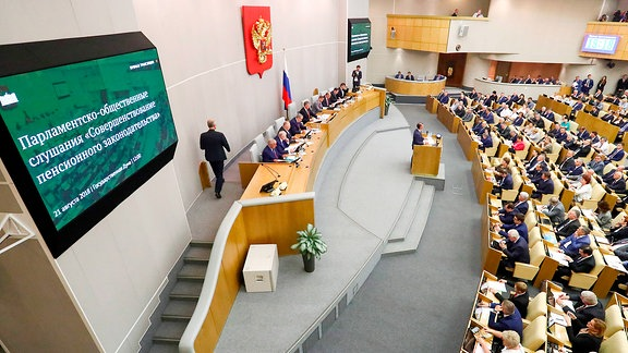 Russische Duma diskutiert über Rentenreform
