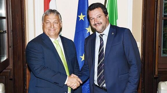 Salvini empfängt Orban