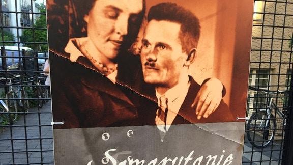 """Plakat mit """"Die Samariter von Markowa"""""""