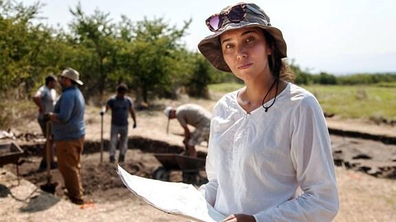 Archäologin Angela Pencheva
