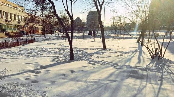 Schnee in der Ukraine