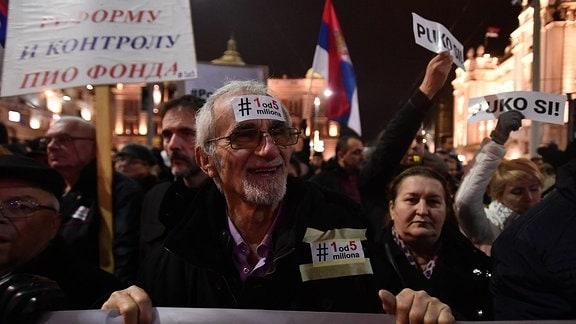Protest in Belgrad