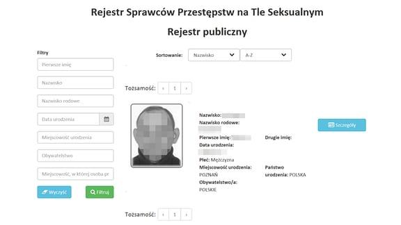 Sexualtäterregister der polnischen Justiz