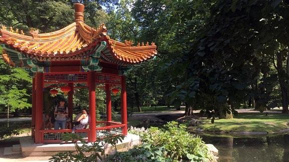 Pavillion, Menschen, Park