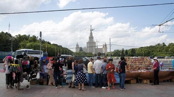 Souvenirverkauf in Moskau