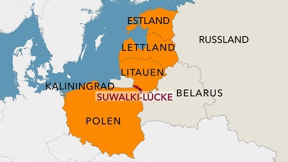 Karte Suwalki-Lücke