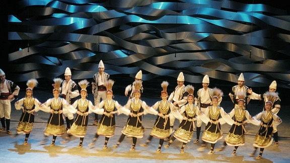 Bulgarische Tanzgruppe während der feierlichen Übernahme der EU-Ratspräsidentschaft im Janaur 2018.