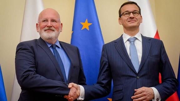 EU-Kommissar Frans Timmermanns in Warschau.