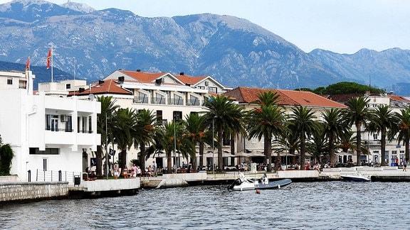 Der Hafen von Tivat.