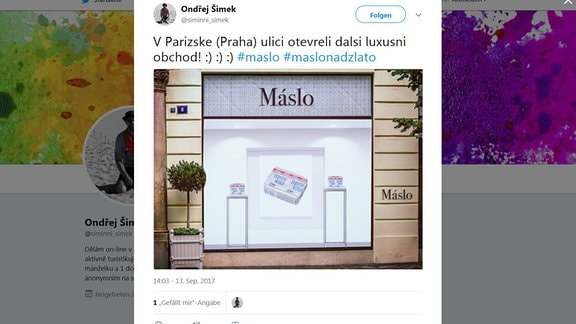 Tweet - Butter in Tschechien