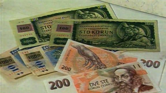 Banknote Tschechische Krone