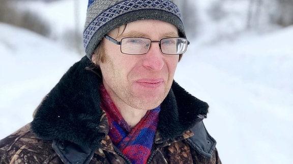 Einblick in die verschneite Kleinstadt Tscherdyn in der russischen Region Perm.