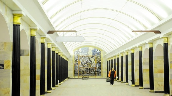 Metrostation in St. Petersburg.