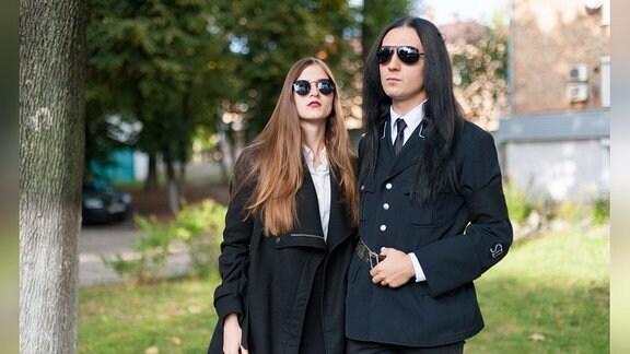 Teilnehmer des Deti Nochi Gothic-Festivals