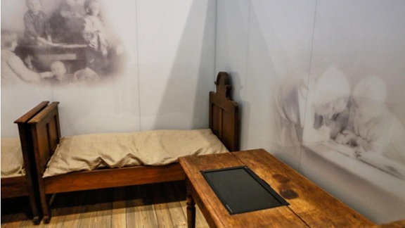 Leeres Bett der Ulma-Kinder